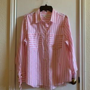 Brand NWOT, Michael Kors button up shirt size L.
